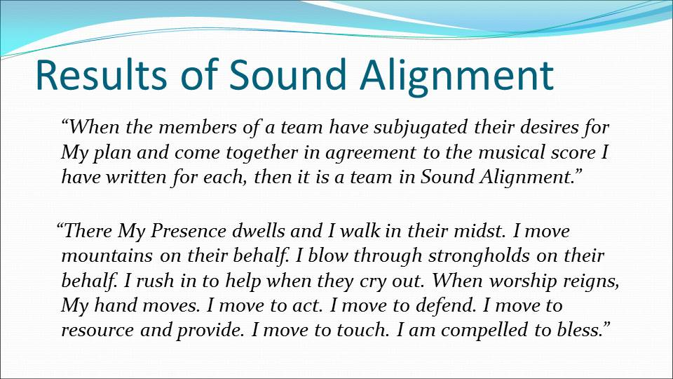 Results of Sound Alignment
